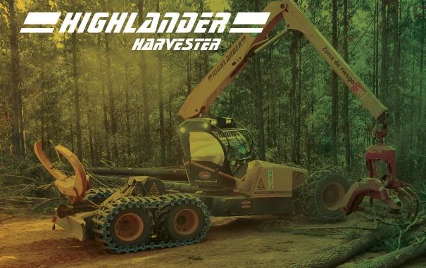 Highlander: Llega a Chile el Primer Cosechador Forestal de Altas Pendientes